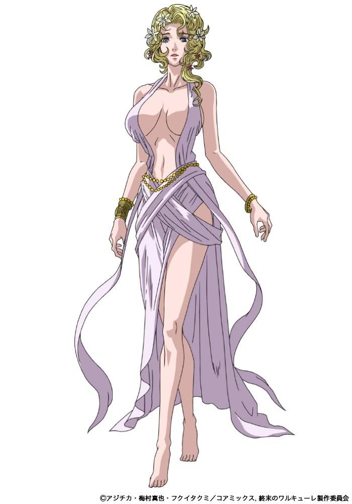Rie Tanaka como Afrodite. 1 - Anime Shuumatsu no Valkyrie revela novo visual
