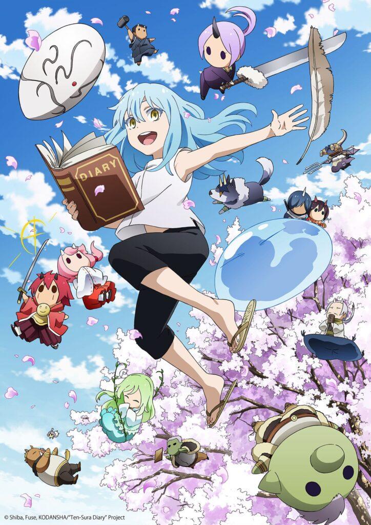 The Slime Diaries Anime Visual 724x1024 - Guia da Temporada de Primavera (Abril) 2021
